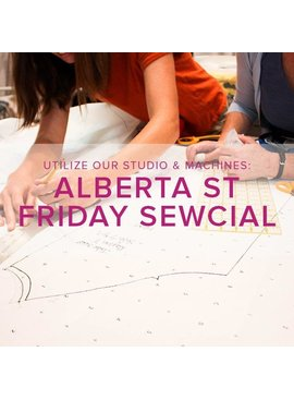Modern Domestic Friday Night Sewcial, Alberta St. Store, Friday, April 12, 5-8 pm