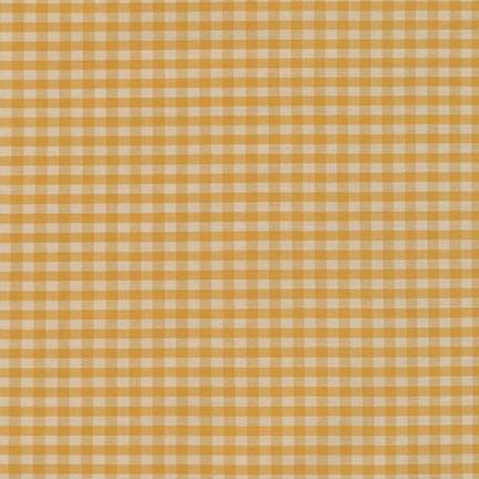 Robert Kaufman Crawford Gingham Medium Mustard