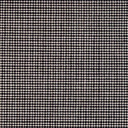 Robert Kaufman Crawford Gingham Petite Black