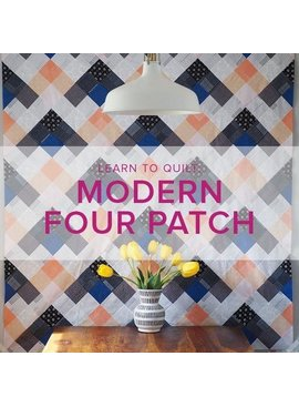 Cath Hall WIP Learn to Quilt: Modern Four Patch Seeing Double Quilt, Alberta St. Store, Tuesdays, May 7, 14, 21 & 28, 6-8:30pm