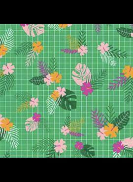 FIGO Tropical Jammin by Black Llamb Tropical Grid Green