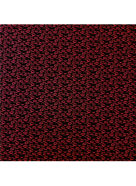Elliot Berman Italian Cotton Shirting, LipsNavy and Red