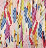 Elliot Berman Italian Knit rainbow prism triangles multi-colored