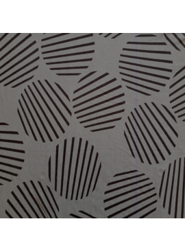 Elliot Berman Italian Knit Striped Circles Grey and Black