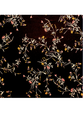 Elliot Berman Italian Knit floral black pink and orange