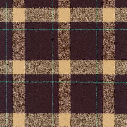 Robert Kaufman Mammoth Flannel Brown