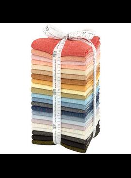Robert Kaufman Essex Yarn Dyed 22 Piece Fat Quarter Bundle New Colors 2018