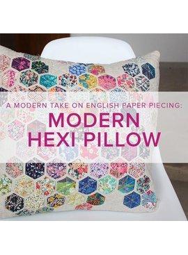 Cath Hall Modern Hexie Pillow, Lake Oswego Store, Saturdays, June 15 & 22, 2-5pm