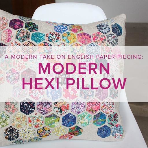 Cath Hall Modern Hexie Pillow, Lake Oswego Store, Saturdays, June 15 & 22, 2-5pm