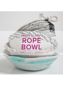 Rebekah Fink ONLY 1 SPOT LEFT Learn to Sew: Rope Bowls, Lake Oswego Store, Sunday, June 9, 10am-12pm