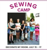 Karin Dejan CLASS IN SESSION Kids Sewing Camp: Decorate My Room! Lake Oswego Store, Monday-Wednesday, July 15-17, 10am-1pm