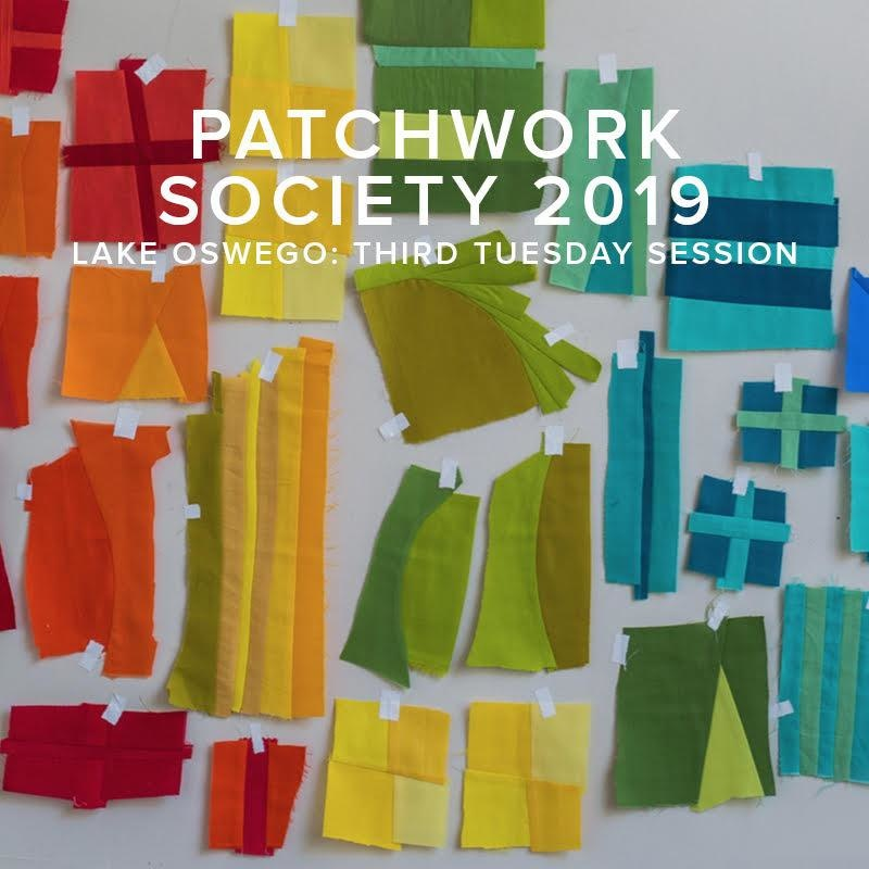 Modern Domestic SOCIETY FULL 2019 Modern Domestic Patchwork Society Annual Membership, Lake Oswego Store, Third Tuesday monthly, 10am - 12pm