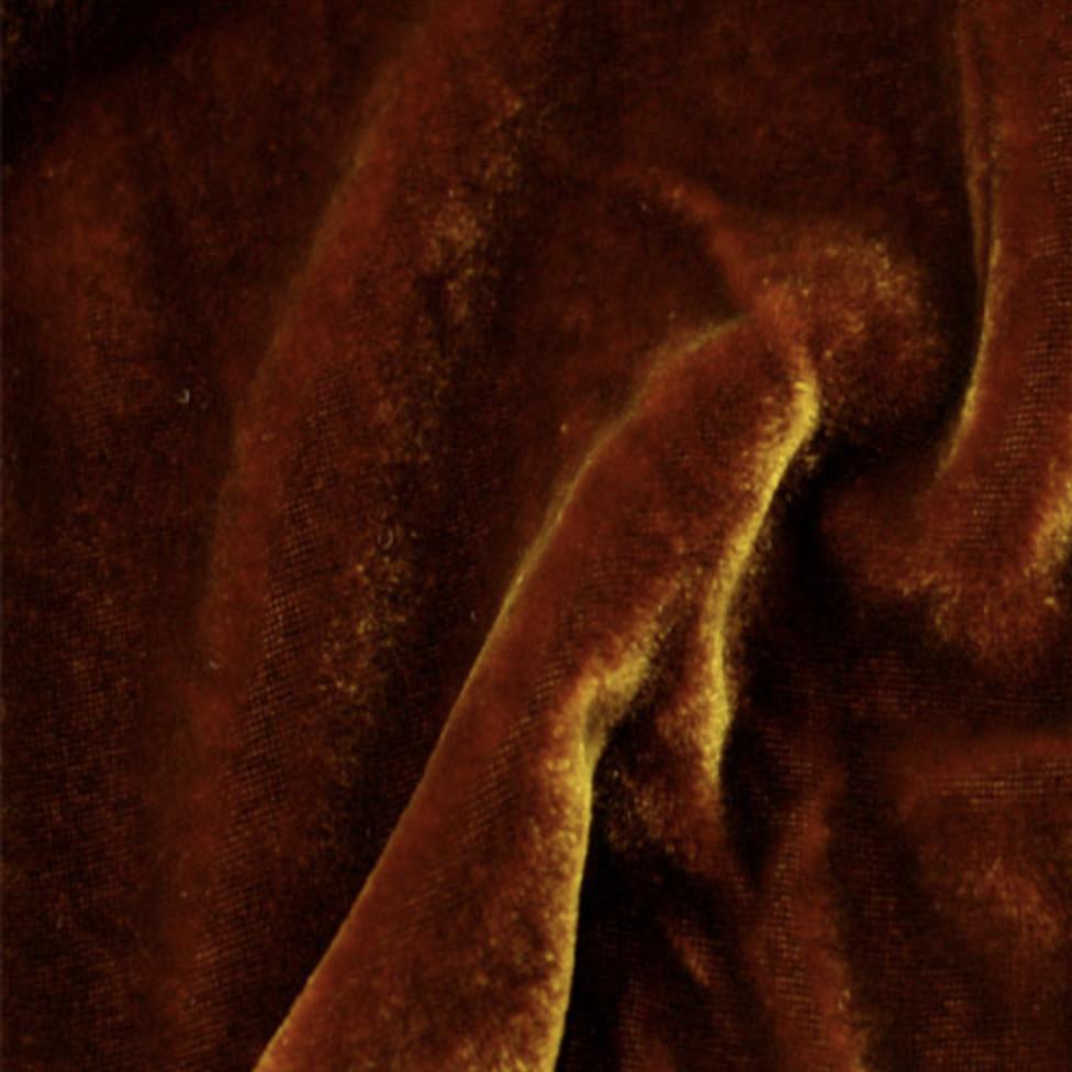 Exotic Silks Irridescent Velvet Deep Amber 18% Silk 82% Rayon