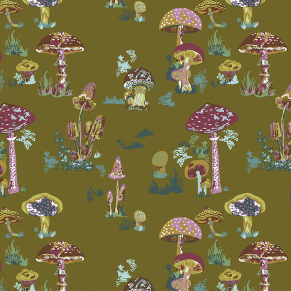 Freespirit Souvenir by Nathalie Lete Beautiful Mushrooms Army