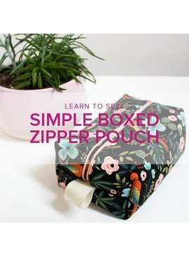 Erica Horton CLASS FULL Learn to Sew: Boxed Zipper Pouch, Alberta St. Store, Wednesday, October 30, 6-9pm