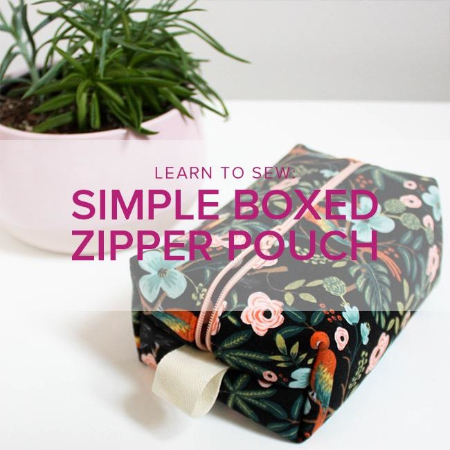 Erica Horton Learn to Sew: Boxed Zipper Pouch, Alberta St. Store, Wednesday, October 30, 6-9pm