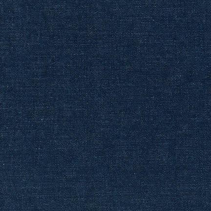 Robert Kaufman Cotton Linen Indigo Denim 6 oz
