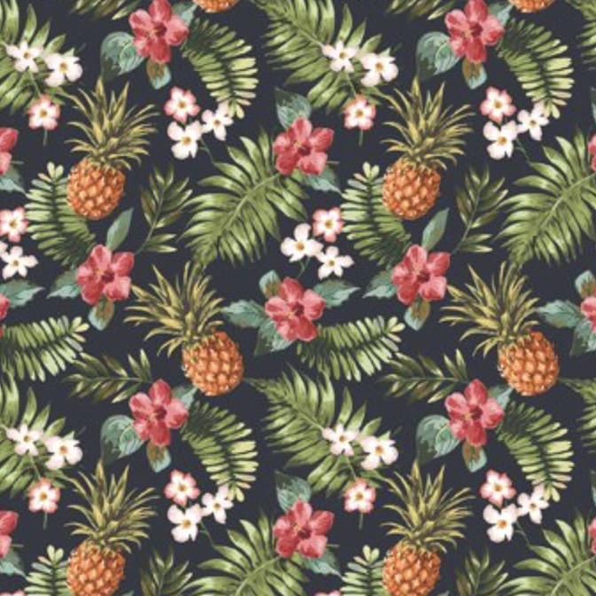Mini Tropical Pineapples and Flowers