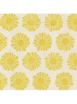 Cotton + Steel By the Seaside by Loes Van Oosten Sunshine Yellow
