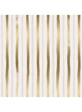 Cotton + Steel Meadow by Rifle Paper Co. Stripes Gold Metallic