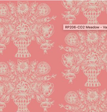 Cotton + Steel Meadow by Rifle Paper Co. Vase Block Print Coral