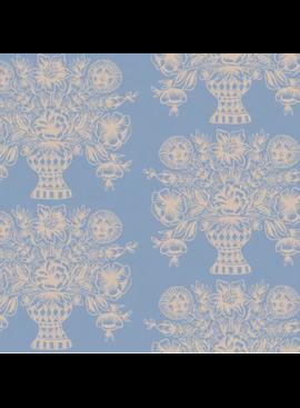 Cotton + Steel Meadow by Rifle Paper Co. Vase Block Print Blue