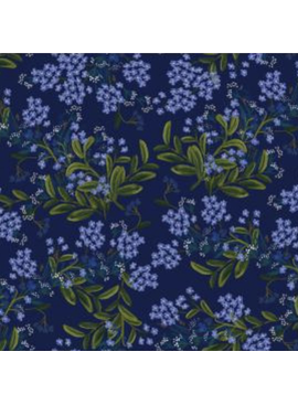 Cotton + Steel Meadow by Rifle Paper Co. Cornflower Navy