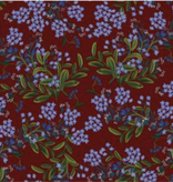 Cotton + Steel Meadow by Rifle Paper Co. Cornflower Burgandy