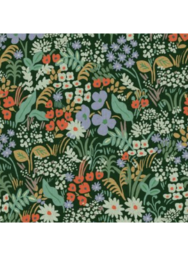 Cotton + Steel Meadow by Rifle Paper Co. Meadow Canvas Hunter Green
