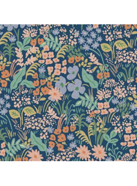 Cotton + Steel Meadow by Rifle Paper Co. Meadow Canvas Blue