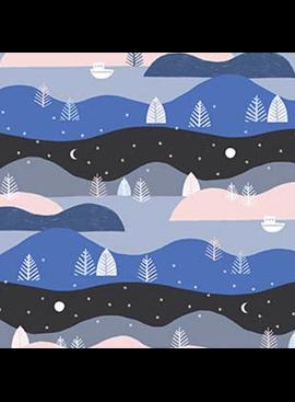 FIGO Moonlit Voyage by Amy Van Luijk Nightscape Blue Navy