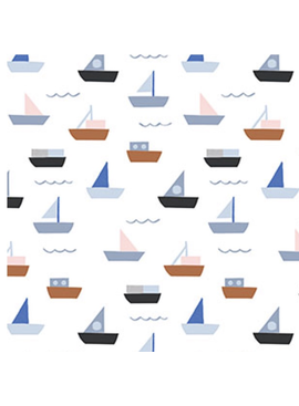 FIGO Moonlit Voyage by Amy Van Luijk Sailboats White