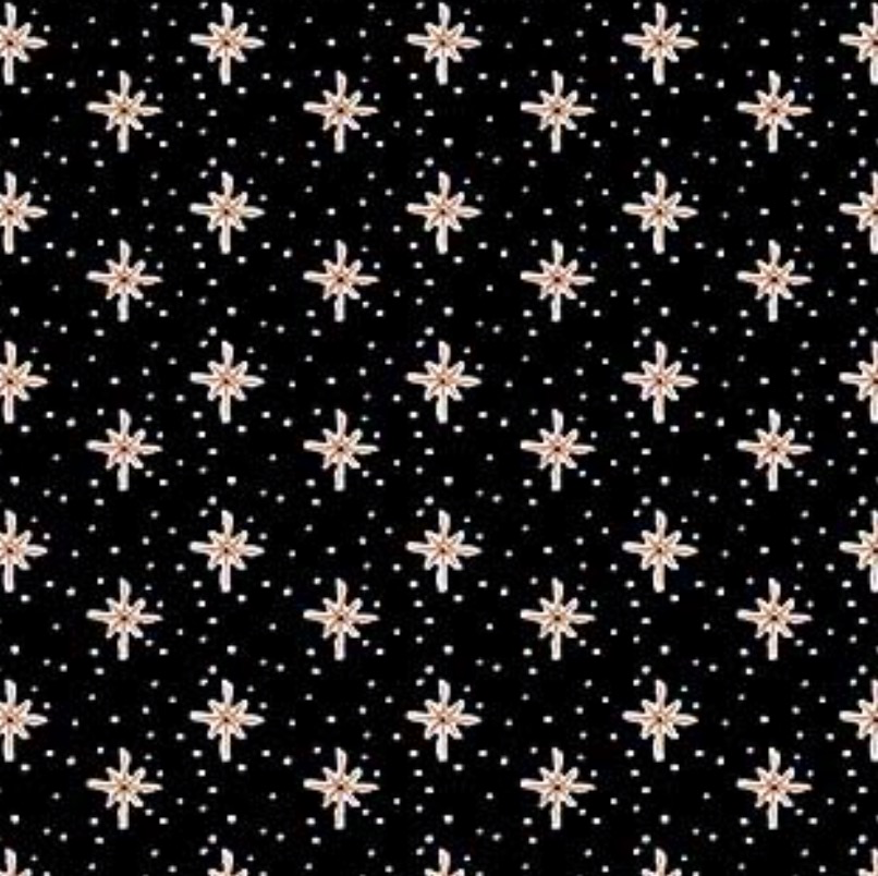 FIGO Desert Wilderness Boccaccini Meadows Starburst Black Rayon