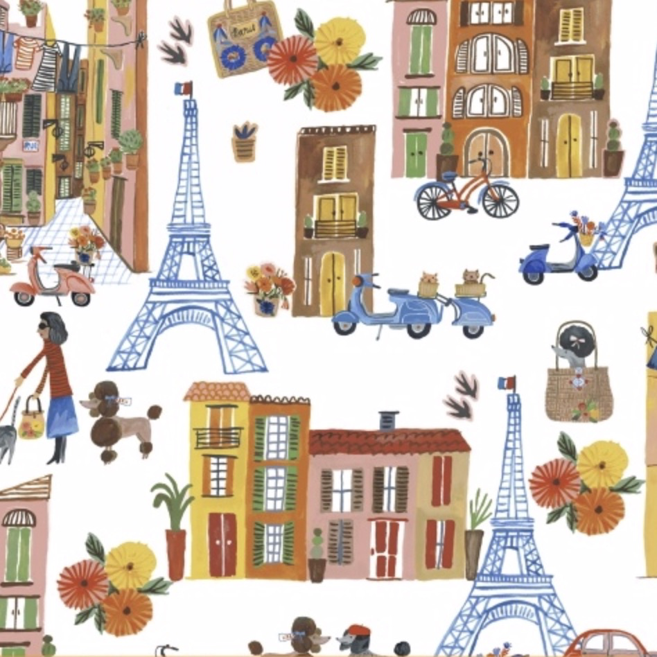 Windham Fabrics Ooh La La by Carolyn Gavin of Ecojot Parisian Scene