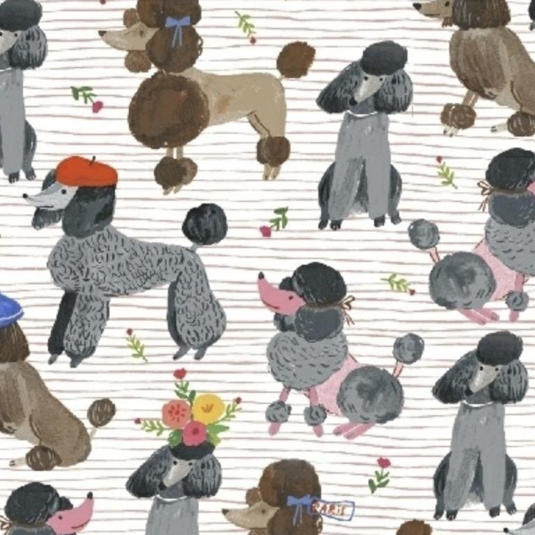 Windham Fabrics Ooh La La by Carolyn Gavin of Ecojot Poodles