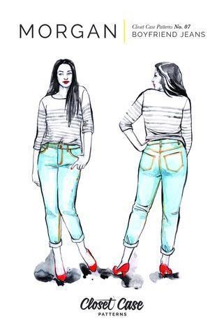 Closet Case Patterns Closet Case Patterns Morgan Boyfriend Jeans