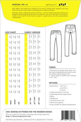 Closet Core Patterns Closet Core Patterns Morgan Boyfriend Jeans