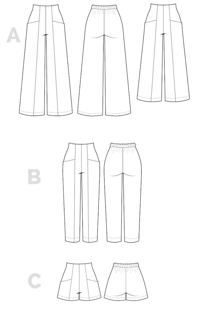 Closet Case Patterns Closet Case Patterns Pietra Pants and Shorts