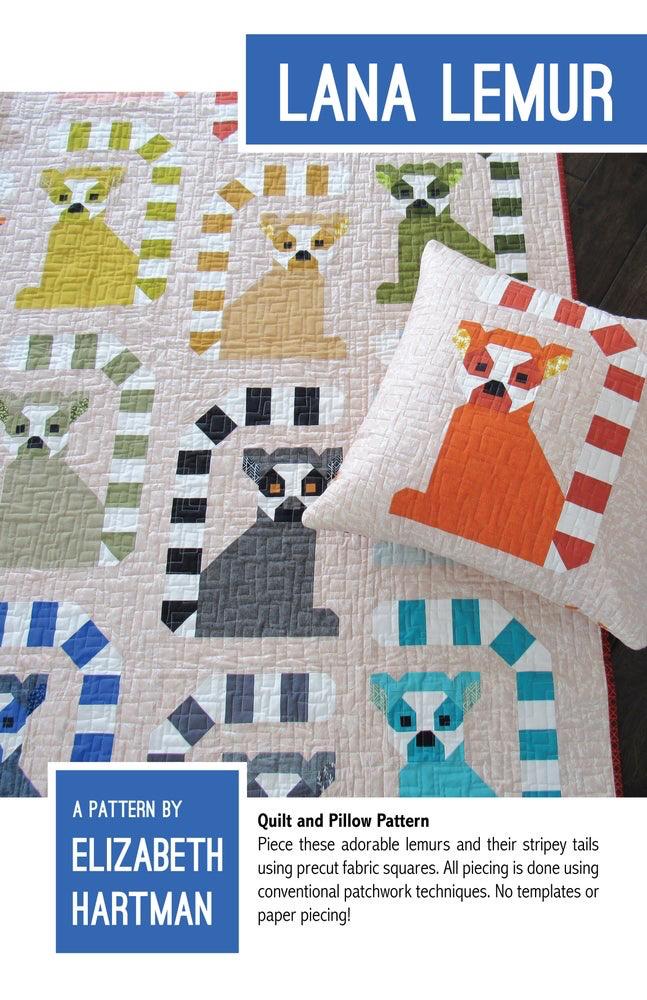 Elizabeth Hartman Lana Lemur Quilt Pattern by Elizabeth Hartman
