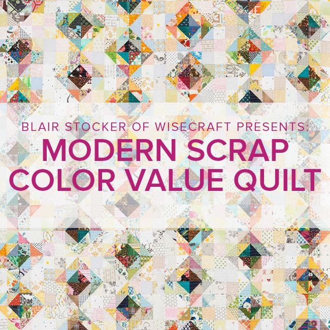 Blair Stocker Modern Scrap Color Value Quilt/Pillow, Alberta St Store, Sunday, November 17th, 1:30-4:30pm