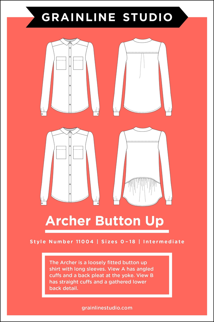 Grainline Patterns Archer Button Up Pattern by Grainline Studio
