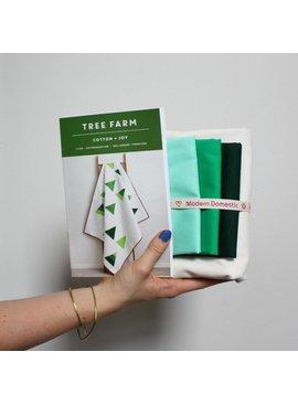 Modern Domestic Tree Farm Quilt Kit - Throw Size