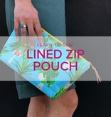 Erica Horton CLASS FULL Learn to Sew: Lined Zip Pouch, Tuesday, November 26, 6-9pm