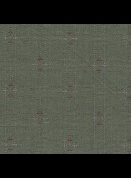Diamond Textiles Nikko Indigo Granite Army Green Pluses