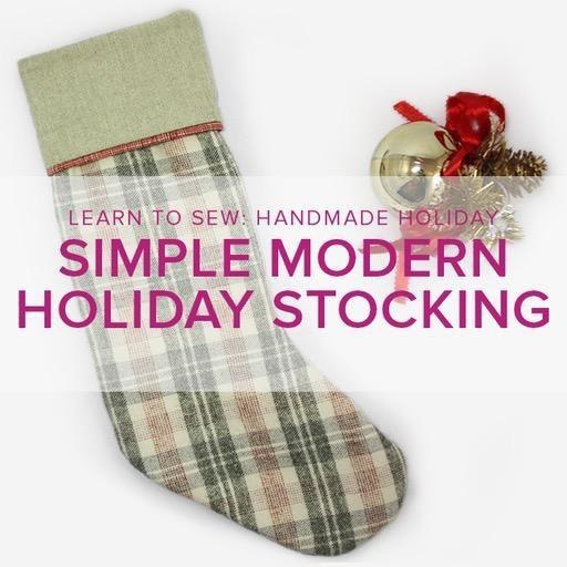 Lane Hunter Learn to Sew ALL AGES: Simple Modern Holiday Stocking, Alberta St. Store, Saturday, November 23, 2-5pm