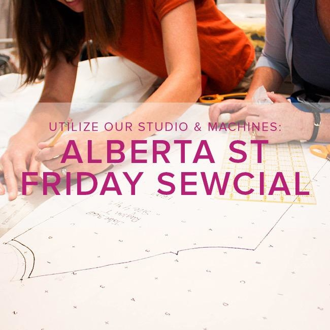 Modern Domestic Friday Night Sewcial, Alberta St. Store, Friday, November 15, 5-8 pm