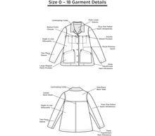 Grainline Patterns Thayer Jacket Pattern by Grainline Studio - Sizes 0-18