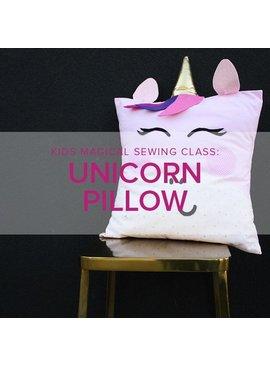 Karin Dejan ONLY 1 SPOT LEFT Kids Sewing Class: Unicorn Pillow,  Lake Oswego Store, Saturday, December 14, 10am-1pm