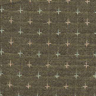 Diamond Textiles Rustic Homespun Army Green Pluses