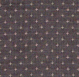 Diamond Textiles Rustic Homespun Grey Pluses